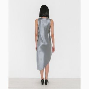 6056b5e83419 Helmut Lang Dresses - Helmut Lang Silk Tank Dress in Gray Pebble Medium